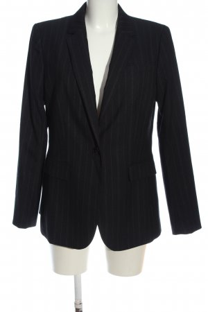 Banana Republic Boyfriend-Blazer schwarz Streifenmuster Business-Look
