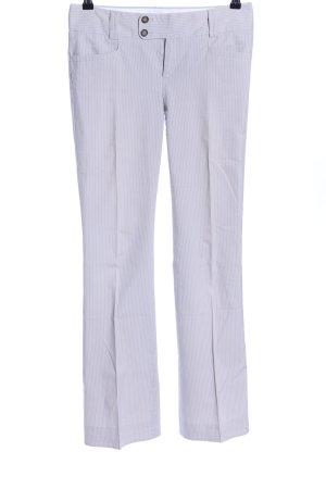 Banana Republic Pantalon à pinces gris clair motif rayé style décontracté