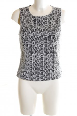 Banana Republic Cropped Top weiß-schwarz grafisches Muster Casual-Look