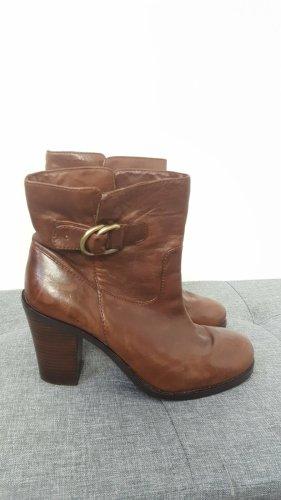 Banana Republic Damen Vintage Echtleder Ankle Boots Stiefeletten Größe 38,5
