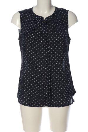 Banana Republic Hemd-Bluse schwarz-weiß Allover-Druck Casual-Look