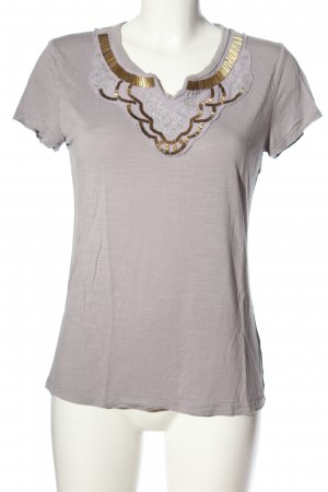 Banana Republic T-Shirt hellgrau-goldfarben Casual-Look