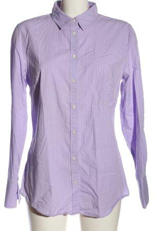 Banana Republic Chemise à manches longues violet-blanc motif rayé