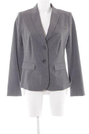 Banana Republic Lange blazer grijs gestippeld zakelijke stijl