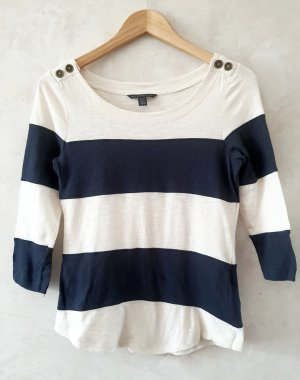 Banana Republic T-shirt bianco sporco-blu scuro