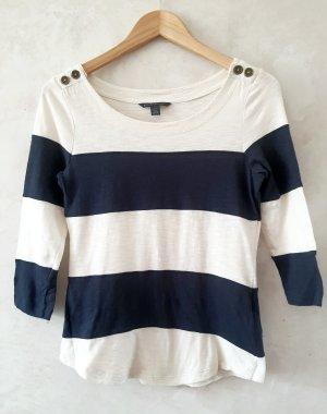 Banana Republic T-shirt blanc cassé-bleu foncé