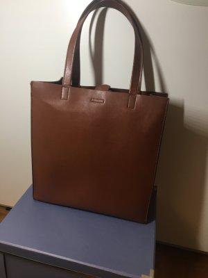 Banana Republic Portfolio Structured Leather Tote Cinnamon