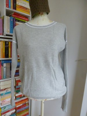 Banana Republic Kraagloze sweater lichtgrijs-wit