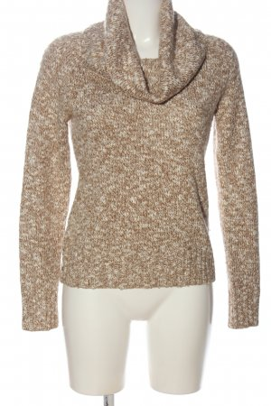 Banana Republic Turtleneck Sweater brown-white flecked casual look
