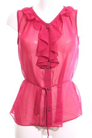Banana Republic Rüschen-Bluse pink Elegant