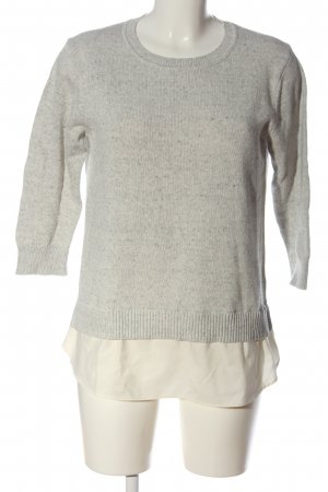 Banana Republic Kraagloze sweater lichtgrijs-wit casual uitstraling