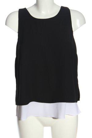 Banana Republic Schlupf-Bluse schwarz-weiß Casual-Look
