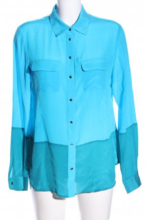 Banana Republic Seidenbluse blau Farbverlauf Business-Look