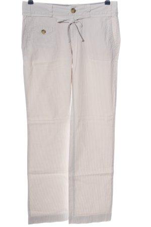 Banana Republic Pantalone jersey bianco sporco motivo a righe stile casual