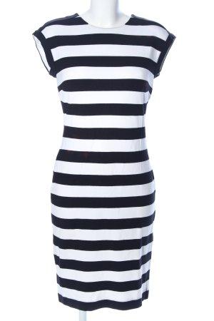 Banana Republic Stretchkleid schwarz-weiß Streifenmuster Casual-Look