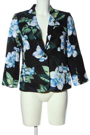 Banana Republic Knitted Blazer black-blue flower pattern business style