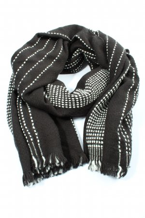 Banana Republic Knitted Scarf black-white striped pattern casual look