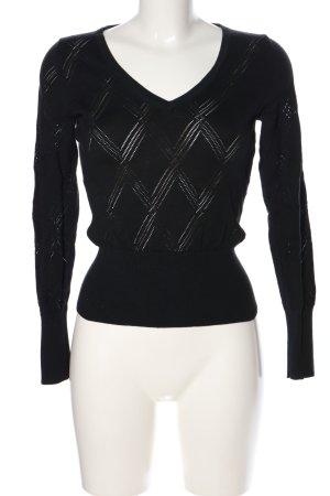 Banana Republic Gebreid shirt zwart kabel steek casual uitstraling