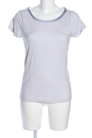 Banana Republic T-shirt gris clair-blanc imprimé allover style décontracté