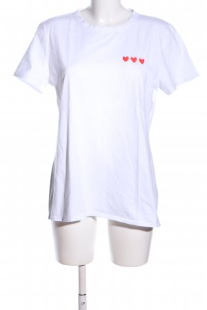Banana Republic T-shirt blanc imprimé avec thème style décontracté