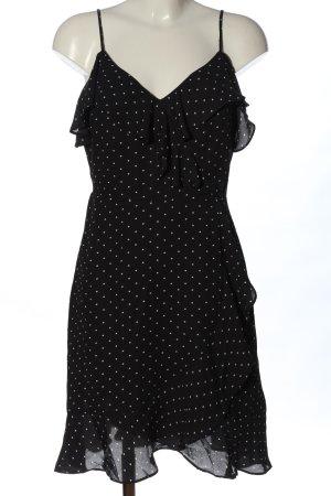 Banana Republic Robe à bretelles noir-blanc motif de tache style décontracté