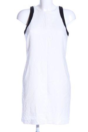 Banana Republic Trägerkleid weiß-schwarz Business-Look