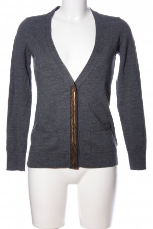 Banana Republic Strickjacke hellgrau-goldfarben meliert Casual-Look