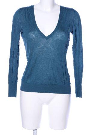 Banana Republic V-Ausschnitt-Pullover blau Casual-Look