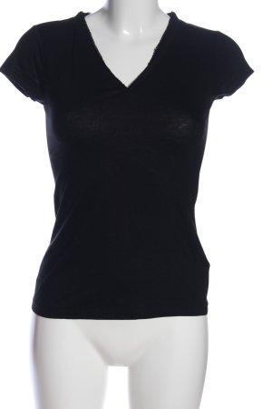 Banana Republic V-Ausschnitt-Shirt schwarz Casual-Look