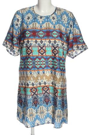 Band of Gypsies Robe à manches courtes imprimé allover style décontracté