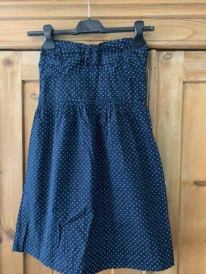 Bandeau Dress blue-white