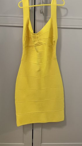 Robe bandeau jaune-jaune primevère