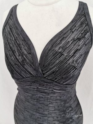 Bandage-Shape-Kleid Bodycon Kleid schmale Träger tiefer Ausschnitt