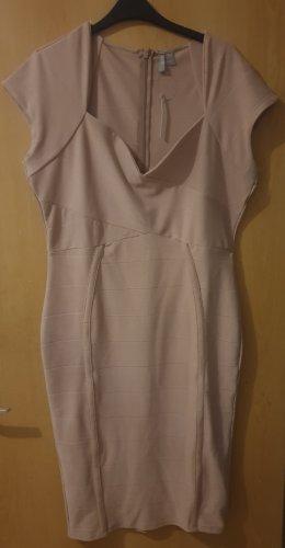 asos curve Midi Dress dusky pink