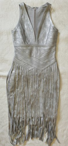 Bandagenkleid in Silber