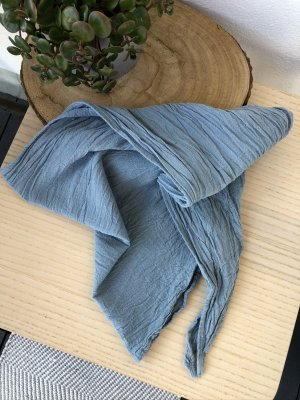 handmade Halsdoek lichtblauw Katoen