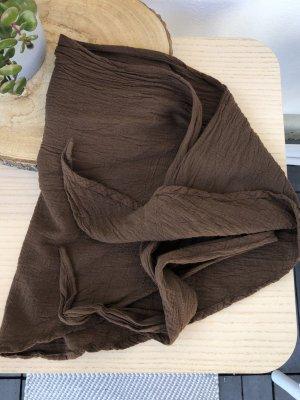 Bandana Halstuch Tuch braun Baumwolle 145x45 cm