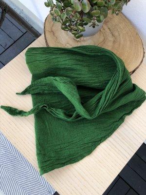 Bandana Halstuch Tuch grasgrün Baumwolle 145x45 cm