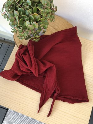 Ohne Neckerchief carmine cotton