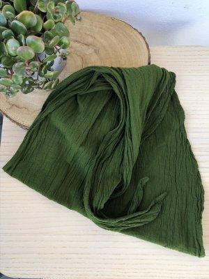 Bandana Halstuch Tuch khaki oliv Baumwolle 145x45 cm