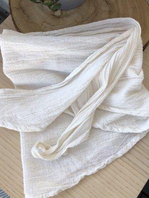 Bandana Halstuch Tuch wollweiß Baumwolle 145x45 cm