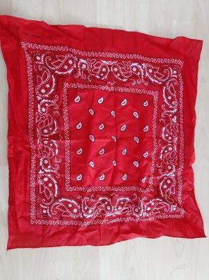 Bandana Paisely-Tuch rot weiß schwarz 50x50cm