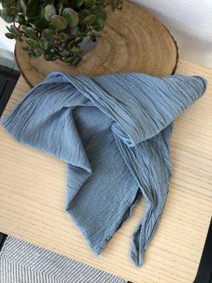 Bandana Tuch Halstuch Baumwolle graublau 145x45 cm