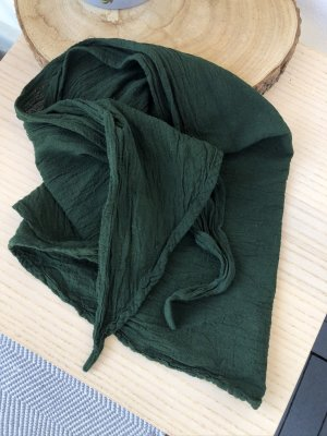 Bandana Tuch Halstuch waldgrün Baumwolle  145x45 cm