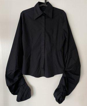 BANDANAS Long Sleeve Blouse black cotton