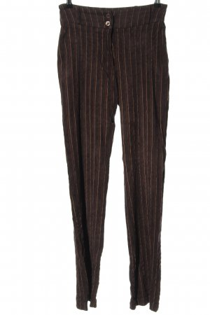 BANDANAS Jersey Pants brown striped pattern casual look