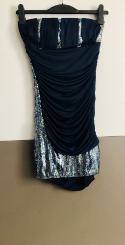 Ball Dress blue-silver-colored