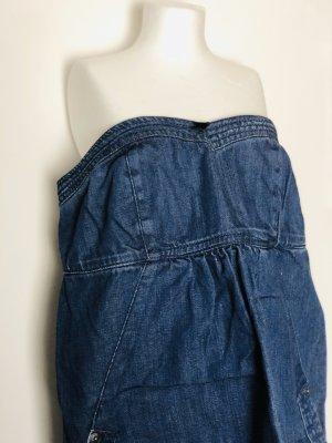 Bandeau-Jeans-Kleid