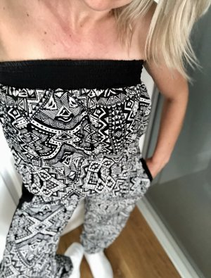 Bandeau Jumpsuit Black and White