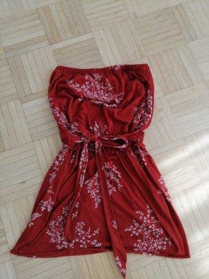 Mango Robe bandeau blanc cassé-rouge